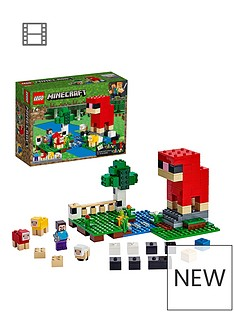 LEGO Minecraft 21153 The Wool Farm with Steve and Sheep Figures