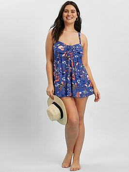 evans-paradise-floral-tab-swimdress-blue