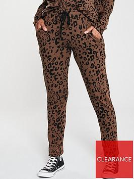 v-by-very-animal-print-slim-leg-snit-joggers-co-ord-brown