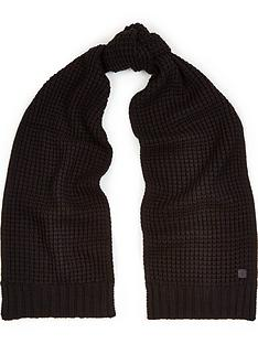 allsaints-mens-thermal-stitch-scarf-black