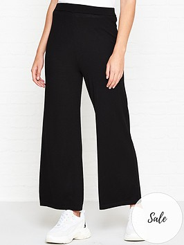 gestuz-thelma-knitted-culottes-black