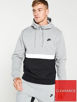 nike-sportswear-club-fleece-half-zip-hoodie-greyblack