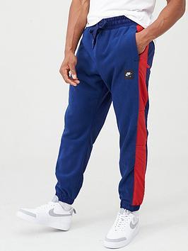 nike-sportswear-air-woven-panel-joggers-navyred