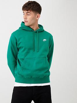 nike-sportswear-club-fleece-overhead-hoodie-green