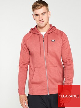 nike-sportswear-optic-full-zip-hoodie-red