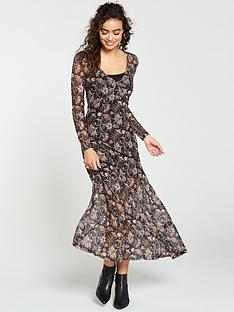 v-by-very-paisley-v-neck-mesh-maxi-dressnbsp--multi