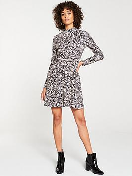 v-by-very-high-neck-jersey-skater-dress-leopard-print