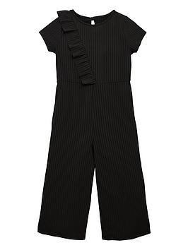 v-by-very-girls-frill-rib-culotte-jumpsuit-black