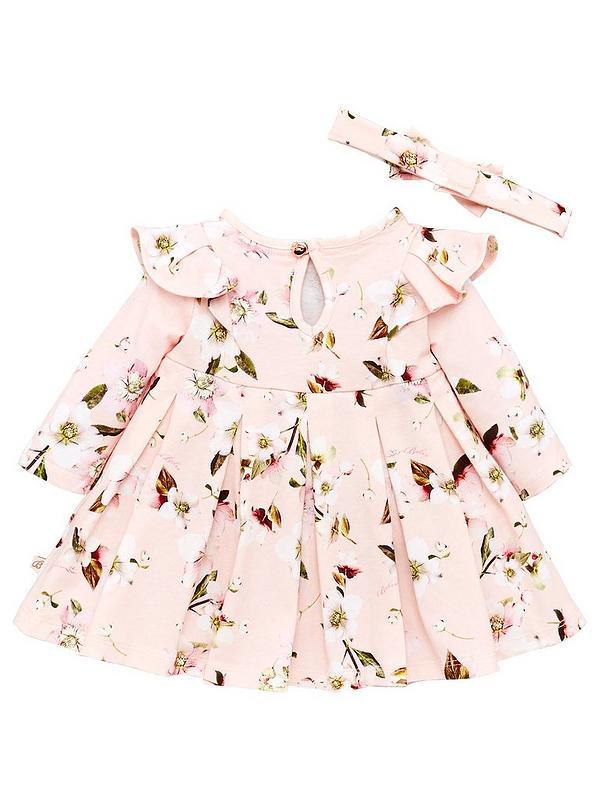 Girls Floral Printed Dress Cord UK 0//3-18//24 months