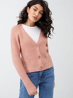 oasis-directional-rib-button-cardigan-pink