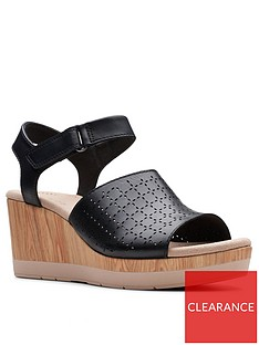 clarks-cammy-glory-leather-wedge-sandals-black