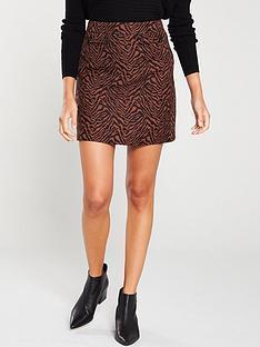 oasis-zebra-jacquard-mini-skirt-multi