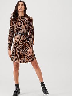 warehouse-tiger-dress-natural