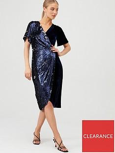 v-by-very-sequin-and-velvet-wrap-dress-midnight