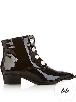 gestuz-pirce-pearl-stud-patent-ankle-boots-black