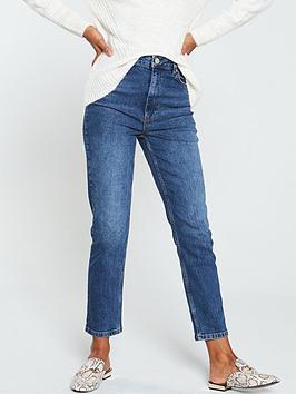warehouse-slim-cut-jeans-mid-wash