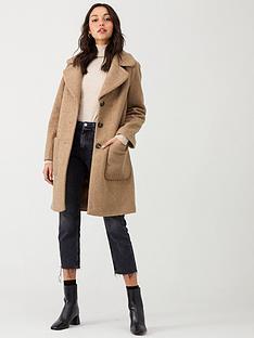 warehouse-faux-fur-teddy-coat-camel