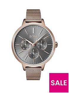 boss-grey-sunray-crystal-set-multi-dial-rose-gold-stainless-steel-mesh-strap-ladies-watch