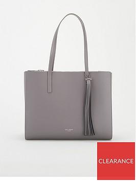 ted-baker-narissa-leather-tassel-detail-large-tote-bag-dark-grey