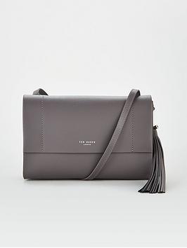 ted-baker-natalei-leather-tassel-detail-cross-body-bag-dark-grey
