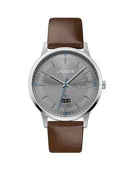 lacoste-lacoste-madrid-grey-sunray-and-blue-detail-date-dial-brown-leather-strap-mens-watch