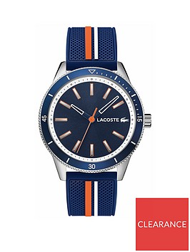 lacoste-lacoste-key-west-blue-and-gold-detail-dial-blue-white-and-ornage-silicone-strap-mens-watch