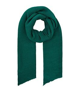 accessorize-lily-ribbed-scarf-green