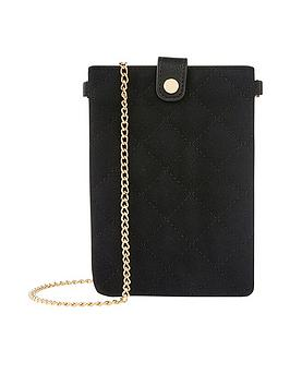 accessorize-quilted-phone-xbody-purse-black