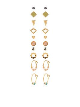 accessorize-10-x-pretty-stone-stud-pack-pinknbsp