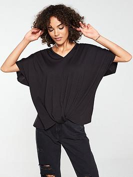 v-by-very-longline-knotted-top-black