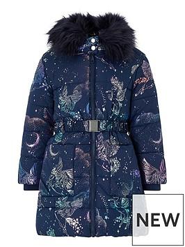 monsoon-girls-luna-unicorn-padded-coat-navy