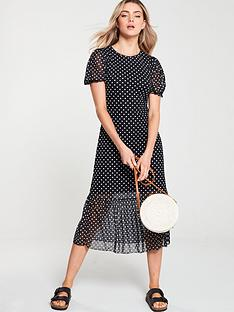 v-by-very-polka-dotnbspmesh-frill-hem-dress-black