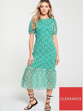 v-by-very-floral-mesh-frill-hem-dress-green