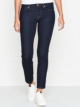 7 for all mankind roxanne mid rise crop original jeans - indigo