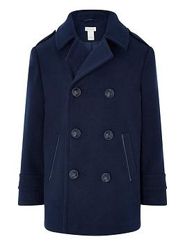 monsoon-boys-aiden-pea-coat-navy