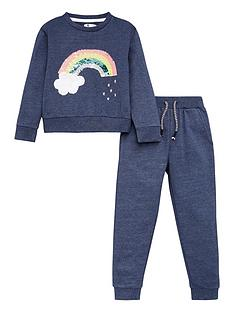 v-by-very-girls-2-piece-sequin-rainbow-jogging-set-navy