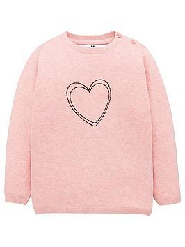 v-by-very-girls-heart-jumper-pink