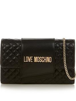 love-moschino-logo-quilted-chain-cross-body-bag-black