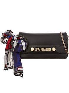 love-moschino-logo-scarf-wrap-chain-cross-body-bag-black