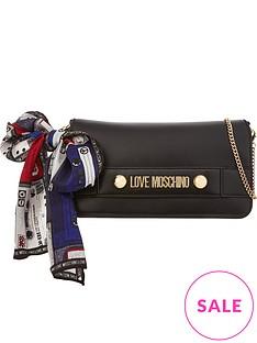 love-moschino-logo-scarf-wrap-chain-cross-body-bag-black