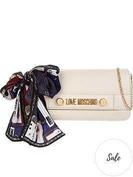 love-moschino-logo-scarf-wrap-chain-cross-body-bag-cream