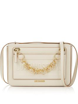 love-moschino-large-chain-detail-logo-shoulder-bag-cream