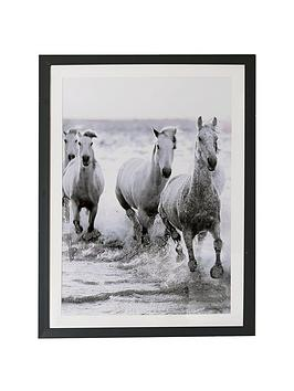 arthouse-wild-horses-framed-print-with-glitter