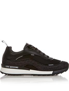 love-moschino-contrast-sole-glitter-runner-trainers-black