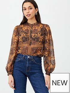 v-by-very-black-and-mustard-blouse-print