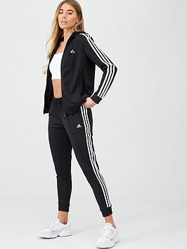adidas-3-stripe-full-zip-hooded-tracksuit-blacknbsp