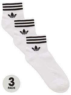 adidas-originals-3-pack-trefoil-ankle-sock-white
