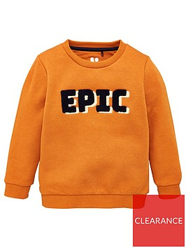 v-by-very-boys-epic-boucle-sweat-top-brown