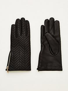 v-by-very-leather-quilted-zip-side-gloves-black