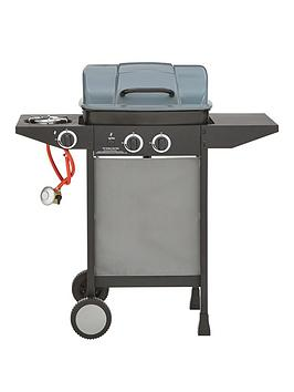 2 Ring Gas Bbq With Side Burner